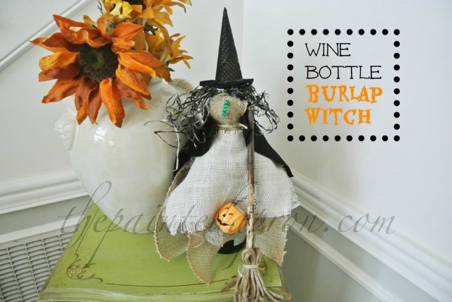 witch, broom and burlap thepaintedapron.com