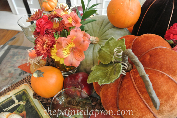 autumn centerpiece thepaintedapron.com