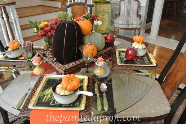 autumn tablescape thepaintedapron.com