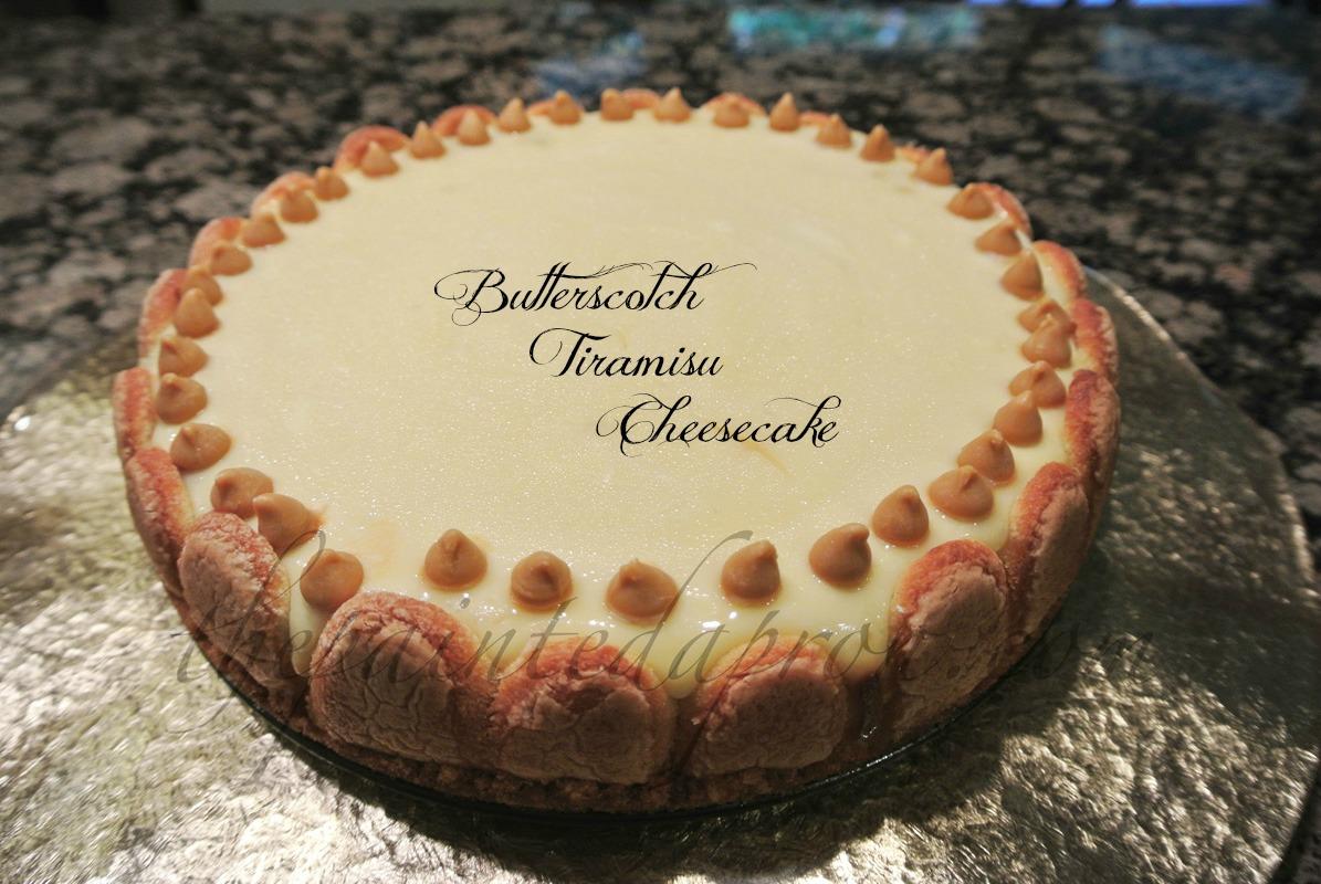 butterscotch tiramisu cheesecake thepaintedapron.com