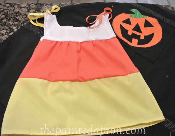 candy corn dress thepaintedapron.com