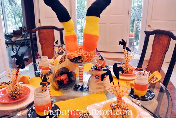 candy corn & witches thepaintedapron.com