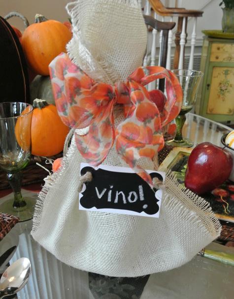 easy wine wrap thepaintedapron.com