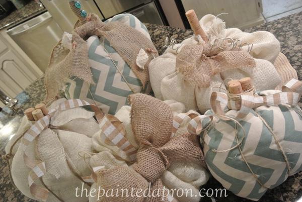 fabric pumpkins thepaintedapron.com