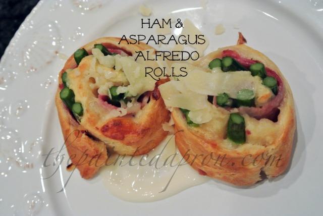 ham & asparagus alfredo rolls thepaintedapron.com
