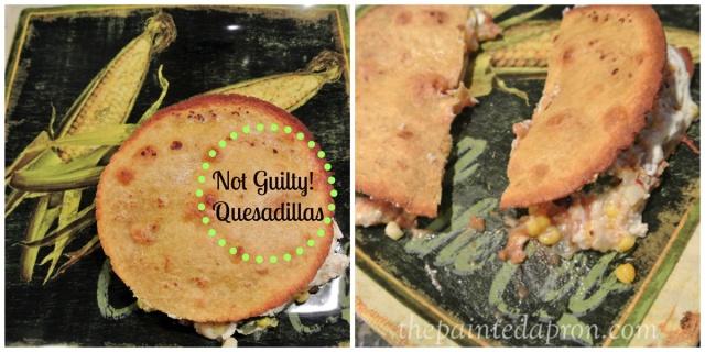 Not Guilty Quesadillas thepaintedapron.com