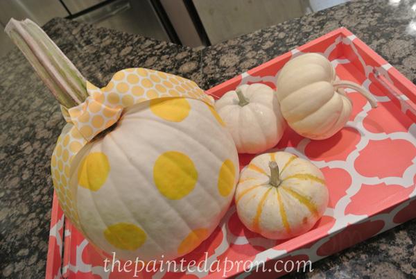 polka dot pumpkin thepaintedapron.com