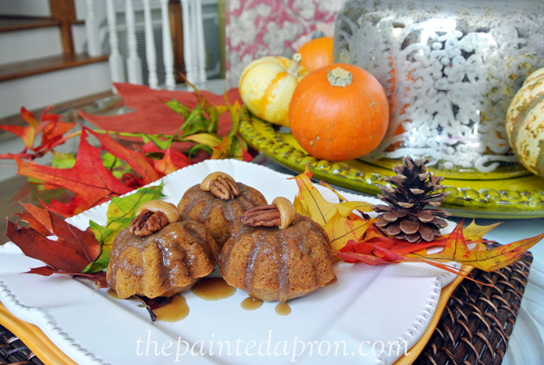 pumpkin bundts w:brown sugar glaze thepaintedapron.com