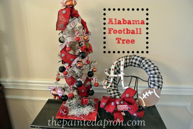 Alabama Football Xmas Tree thepaintedapron.com
