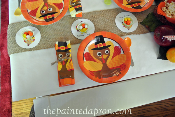 childrens turkey toes table thepaintedapron.com