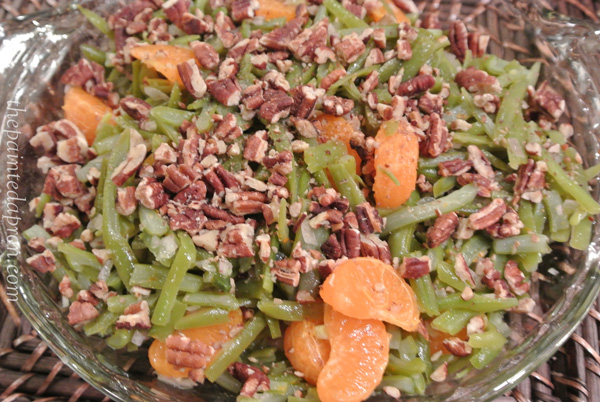 green beans with orange and pecans thepaintedapron.com