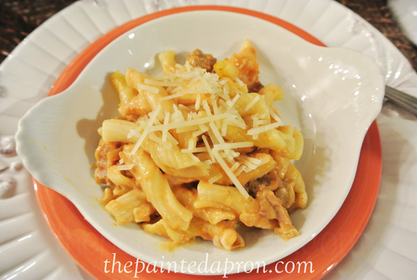 pumpkin pasta thepaintedapron.com