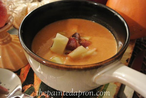 pumpkin soup thepaintedapron.com
