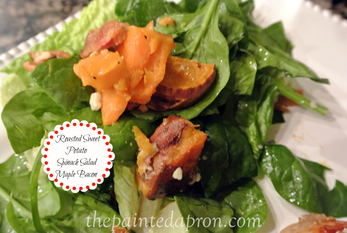 roasted sweet potato salad thepaintedapron.com 1