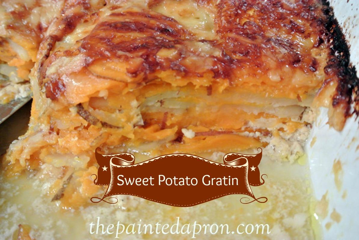 Recipe Box, Sweet Potato Gratin | the Painted Apron