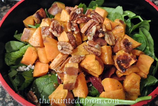 sweet potato salad thepaintedapron.com