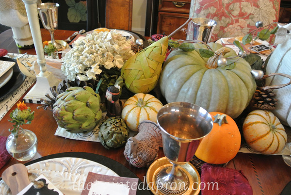 Thanksgiving centerpiece thepaintedapron.com