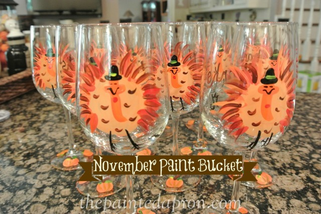 turkey glasses thepaintedapron.com