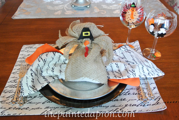 turkey napkin holder thepaintedapron.com
