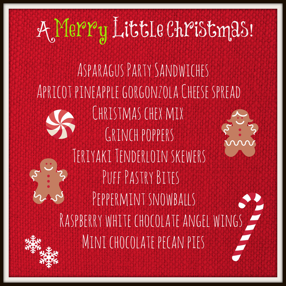 a merry little christmas menu the painted apron