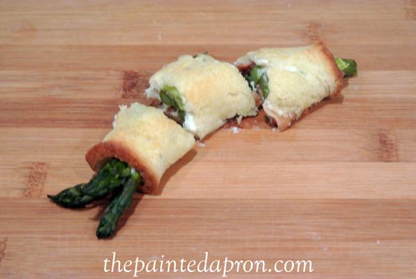 asparagus sandwich bites thepaintedapron.com