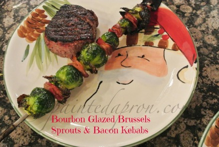 bourbon glazed brussels sprouts and bacon thepaintedapron.com