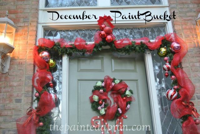 Christmas door thepaintedapron.com