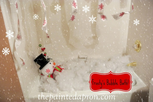 Frosty's Bubble Bath thepaintedapron.com