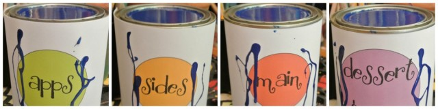 recipe buckets collage