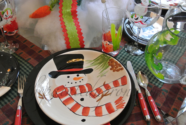 snowman table 1 thepaintedapron,com
