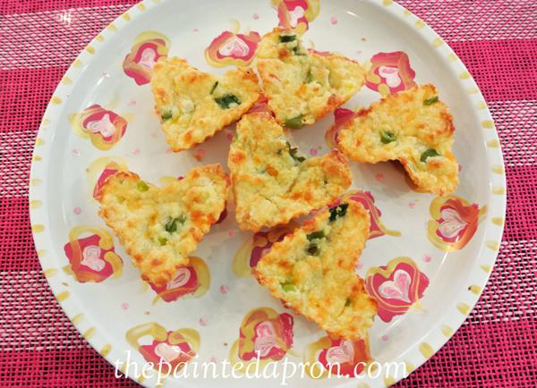Valentine cheese muffins thepaintedapron.com