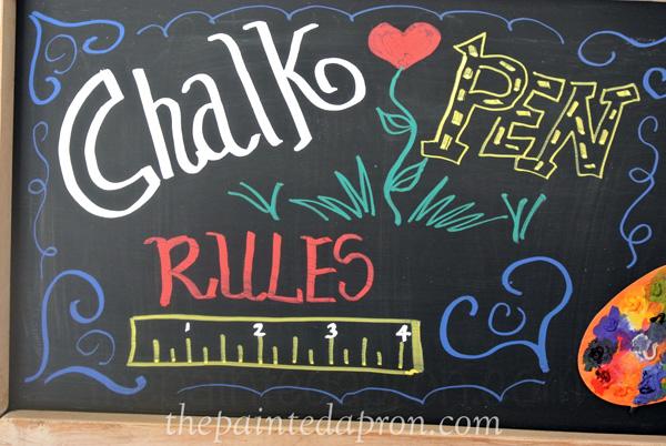 chalk pen art thepaintedapron.com