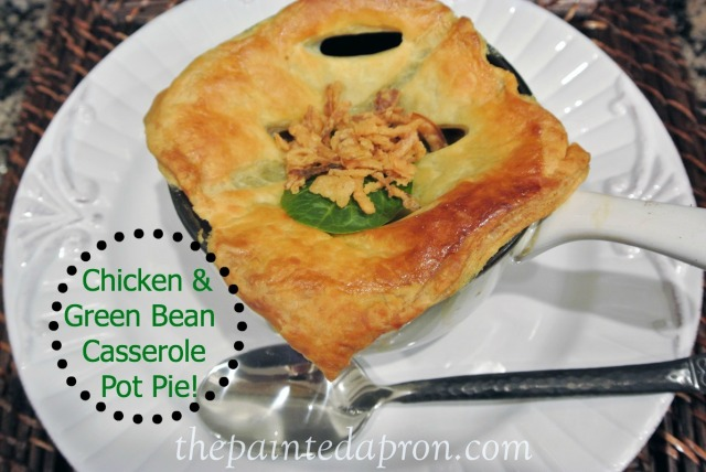 chicken and green bean casserole pot pie 2 thepaintedapron.com