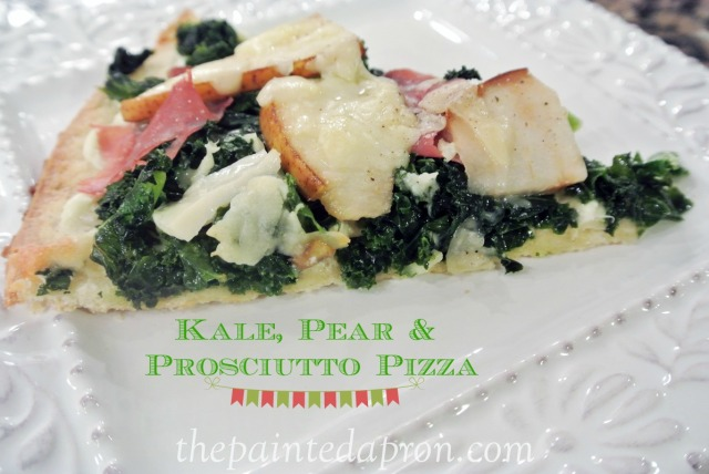 Kale, pear and proscuitto pizza 1 thepaintedapron.com