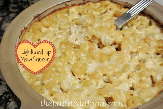 light macaroni and cheese thepaintedapron.com
