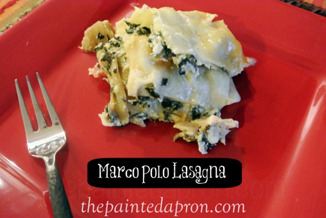 Marco polo lasagna with spinach and artichokes thepaintedapron.com