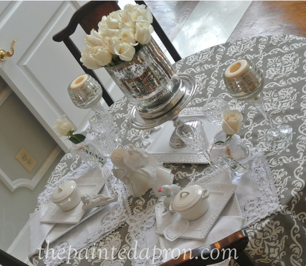 white romance table thepaintedapron.com