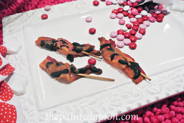 chocolate caramel bacon thepaintedapron.com