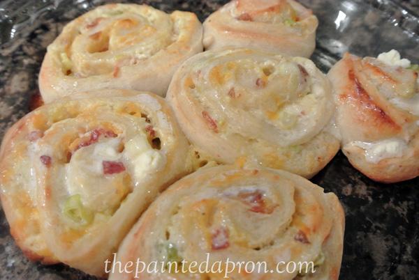 dip stuffed spiral rolls