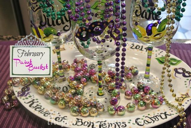 mardi gras tableware thepaintedapron.com