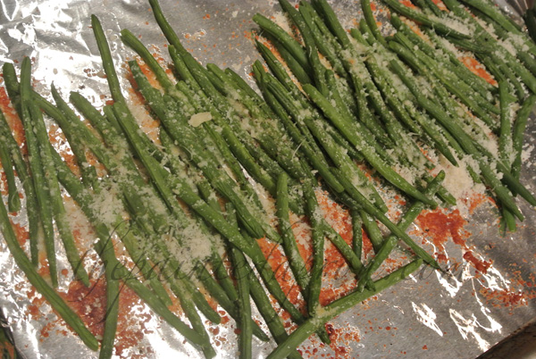 roasted green beans thepaintedapron.com