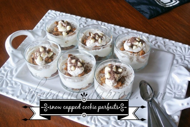 snow capped white Russian cookie parfaits