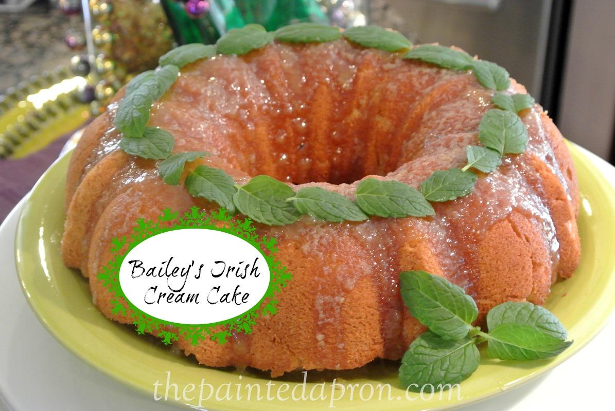 Bailey's glazed pound cake thepaintedapron.com
