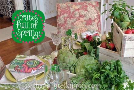 crates full of spring table thepaintedapron.com