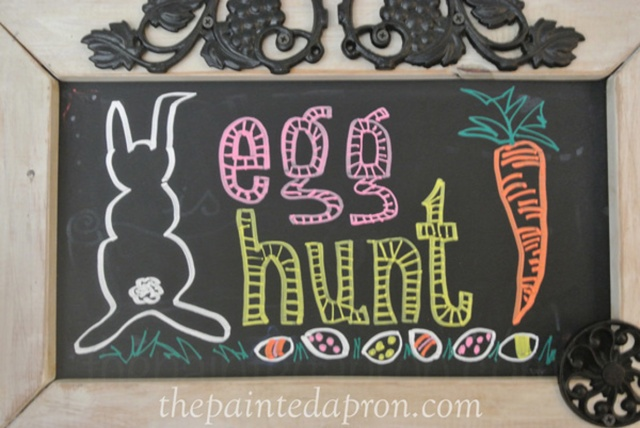 easter chalkboard thepaintedapron.com