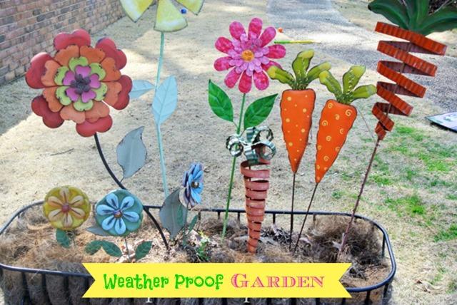 metal garden thepaintedapron.com