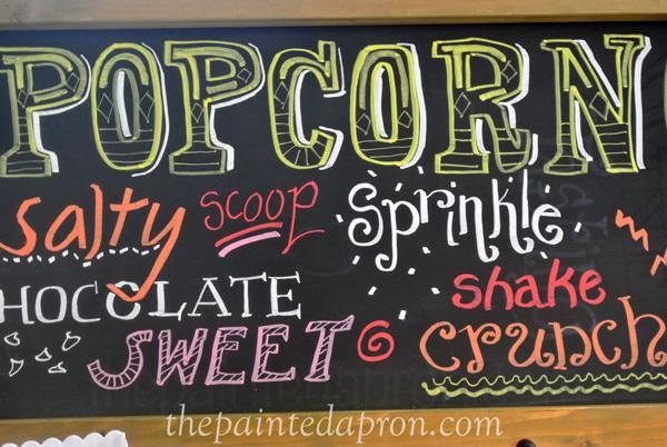 popcorn chalkboard thepaintedapron.com