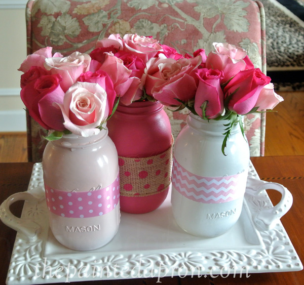 rose ribbon jars thepaintedapron.com
