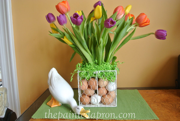 tulips and eggs thepaintedapron.com