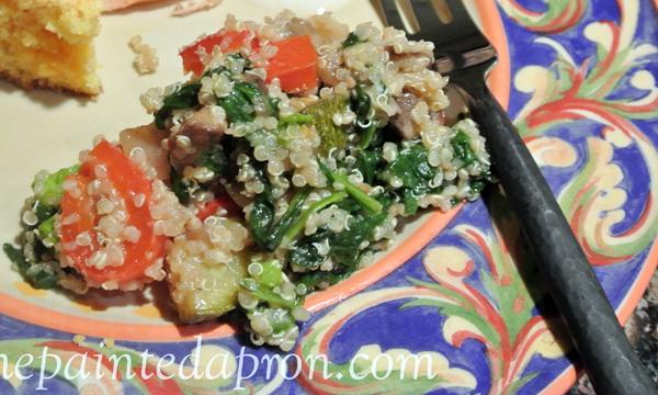 vegetable patch quinoa thepaintedapron.com